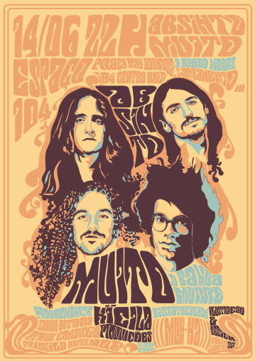 ABSINTO MUITO POSTER | Poster for the second album release show of the brazilian band Absinto Muito.