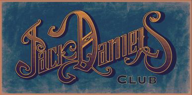 Jack Daniels club - logo fundo azul